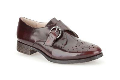Clarks Ox-Blood leather ´Busby Jazz´ monk trouser shoe - . -