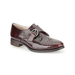 Clarks - Ox-Blood leather 'Busby Jazz' monk trouser shoe