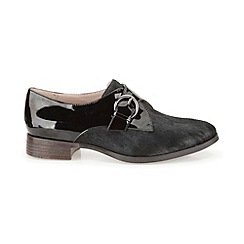 Clarks - Black leather 'Busby Jazz'  monk trouser shoe
