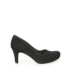 Clarks - Black suede Chorus Voice plain court shoe