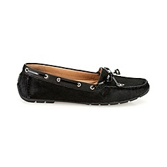 Clarks - Black leather 'Dunbar Cruiser' flat driving moccasin