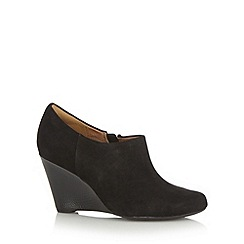 Clarks - Black 'Elsa Milly' suede high wedge shoe boots