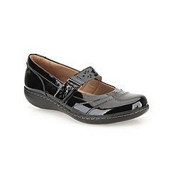 Clarks - Black patent 'Embrace Lux'  flat bar shoe