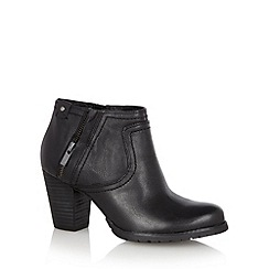 Clarks - Black leather 'Macay Halle' mid heeled ankle boot