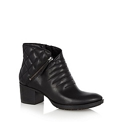 Clarks - Black leather 'Movie Retro' mid heeled ankle boot