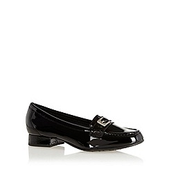 Hotter - Black buckle detail patent leather shoes