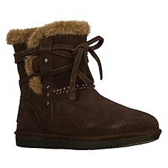 Skechers - Chocolate womens 'Shelbys' boots