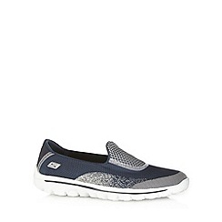 Skechers - Navy 'GOWalk2' slip on shoes