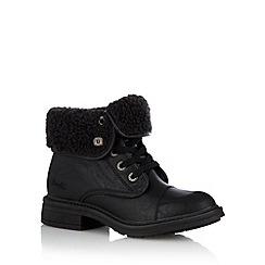 Blowfish - Black 'Farina' borg ankle boots