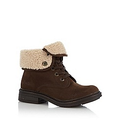 Blowfish - Dark brown 'Farina' borg ankle boots