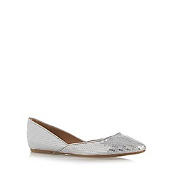 Call It Spring - Silver 'Coredda' sequin flat pumps