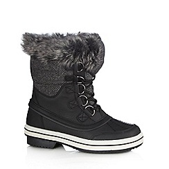 Call It Spring - Black 'Beanna' faux fur lined biker boots