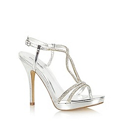 Call It Spring - Silver 'Frocyla' embellished strap high heel sandals