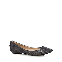 Call It Spring - Black 'Chaella' metallic textured heel zip pumps