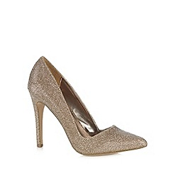 Call It Spring - Gold 'Seveven' stiletto heel court shoes