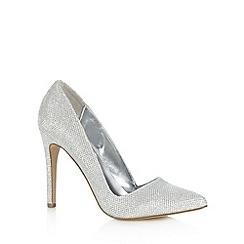 Call It Spring - Silver 'Seveven' stiletto heel court shoes