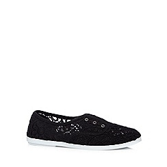 Call It Spring - Black 'Rossetta' slip on shoes