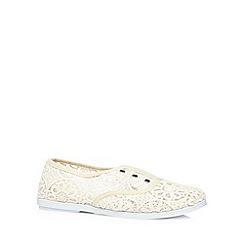 Call It Spring - Dark cream 'Rossetta' slip on shoes