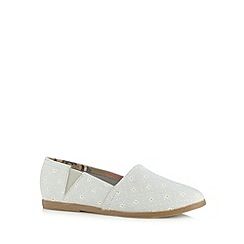 Call It Spring - Grey 'Cirecia' floral slip on shoes