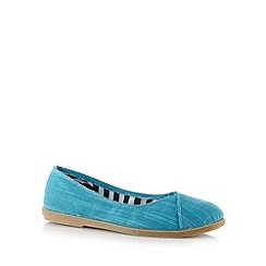 Call It Spring - Turquoise 'Boiter' checked slip on shoes