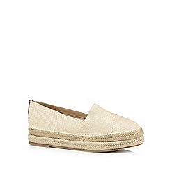 Call It Spring - Natural 'Zerallan' floral straw slip on shoes
