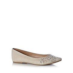 Call It Spring - Natural 'Verederosa' oval stone pump shoes