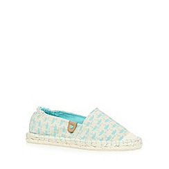 Call It Spring - Turquoise 'Florinia' espadrille shoes