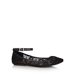 Call It Spring - Black 'Kessock' lace court shoes