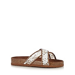 Call It Spring - White 'Barrese' lace flip flops