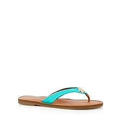 Call It Spring - Turquoise 'Cherallan' flip flops