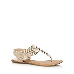 Call It Spring - Natural 'Furtei' T-bar sandals