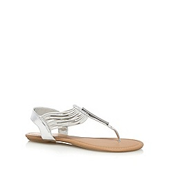 Call It Spring - Silver 'Furtei' T-bar sandals