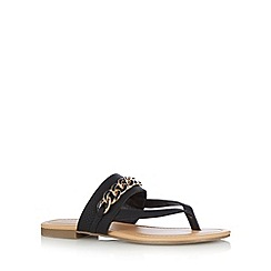 Call It Spring - Black 'Ashbridge' chain flip flops
