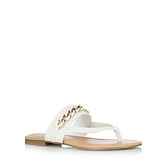 Call It Spring - White 'Ashbridge' chain flip flops