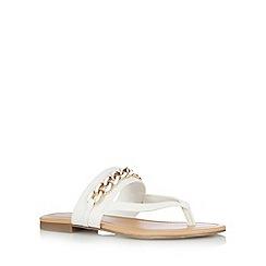Call It Spring - White 'Ashbridge' chain flip flops