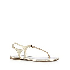 Call It Spring - Light gold 'Lovenawen' toe post sandals