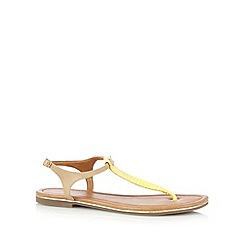 Call It Spring - Yellow 'Lovenawen' toe post sandals