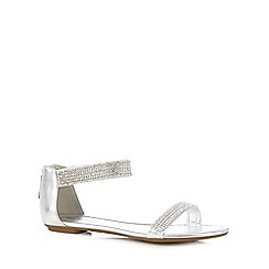 Call It Spring - Silver 'Bocuzzi' zip sandals