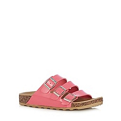 Call It Spring - Pink 'Platis' triple strap sandals