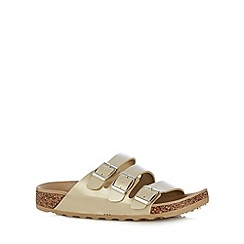 Call It Spring - Light gold 'Platis' triple strap sandals