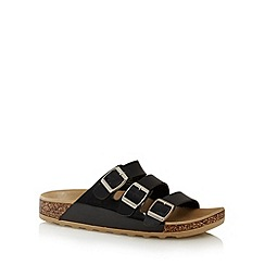 Call It Spring - Black 'Platis' triple strap sandals