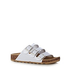 Call It Spring - White 'Platis' triple strap sandals