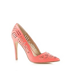 Call It Spring - Coral 'Molara' cutout high court shoes