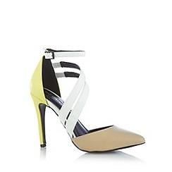 Call It Spring - Natural 'Unega' colour block high court shoes