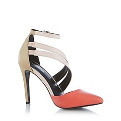 Call It Spring - Coral 'Unega' colour block high court shoes