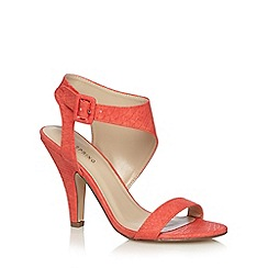 Call It Spring - Coral 'Jennah' snakeskin high sandals