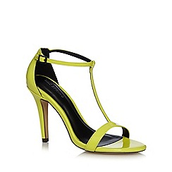 Call It Spring - Yellow 'Eadrea' T-bar stiletto shoes