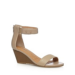 Call It Spring - Natural 'Montelurro' mid wedge heel sandals