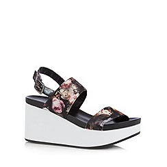 Call It Spring - Black 'Armit' high wedge sandals