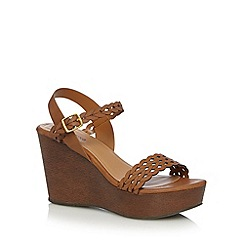 Call It Spring - Tan 'Canovello' high wedge sandals